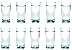 10 gelas air